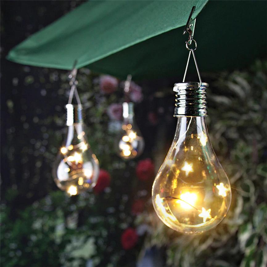 Solar Panel Led Waterproof Solar Light Bulb Outdoor Garden Great For Camping Easynightlight Com Solar Light Bulb Hanging Light Bulbs Solar Lights
