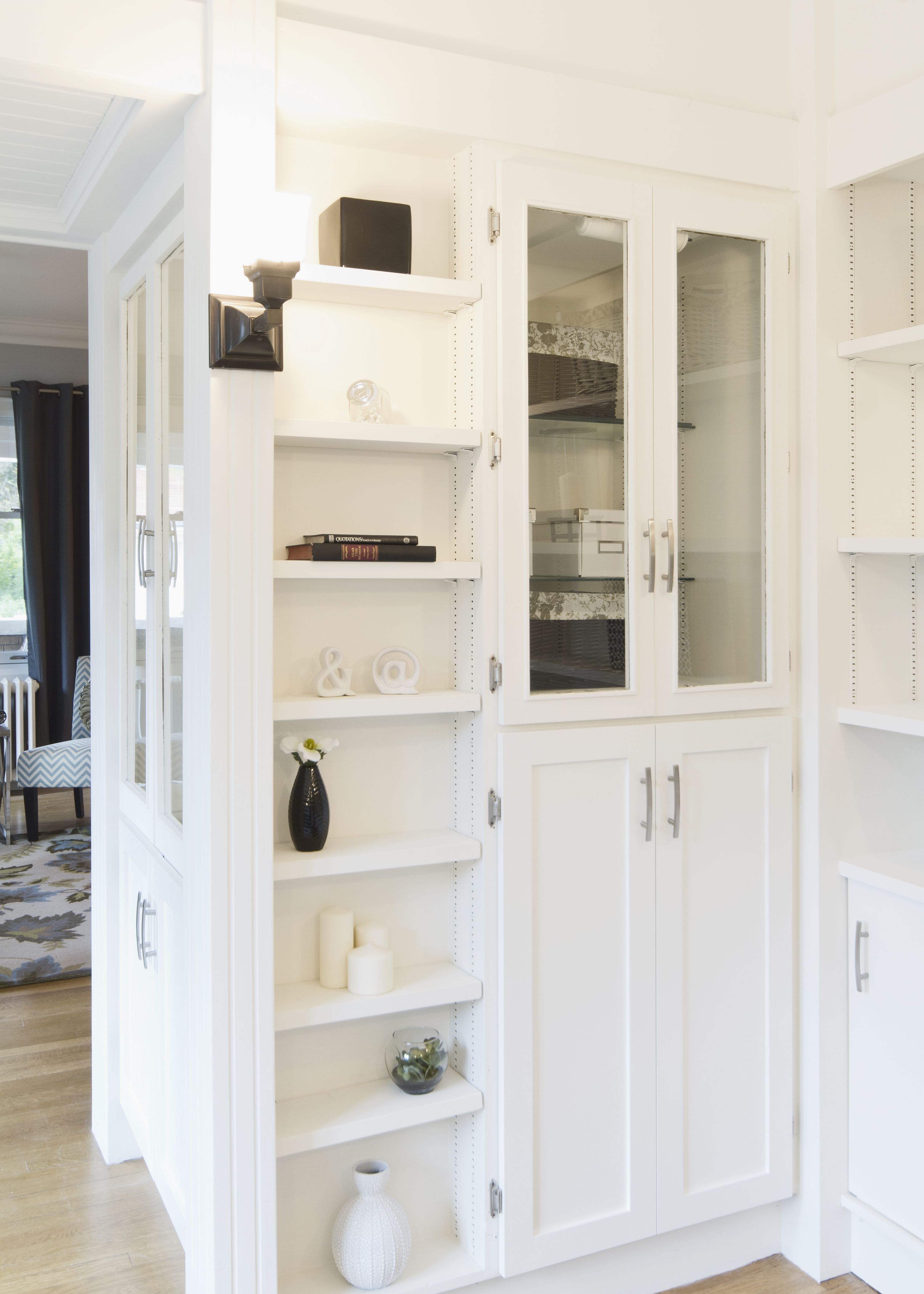 Shelf Styling Btsh Staging Classic House Built Ins Tall Cabinet Storage
