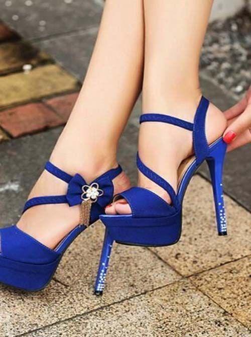 Open Toe Wedding High Heels Shoes