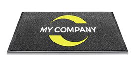 INSET BUILT-IN PREMIUM LOGO MAT - Absorbent doormat, 8,5mm high. With printed drawing, logo or customisation. Border on each side. Machine washable at 60°C. http://www.entrancemattingsystems.co.uk/inset/built-in-premium-logo-mat.html