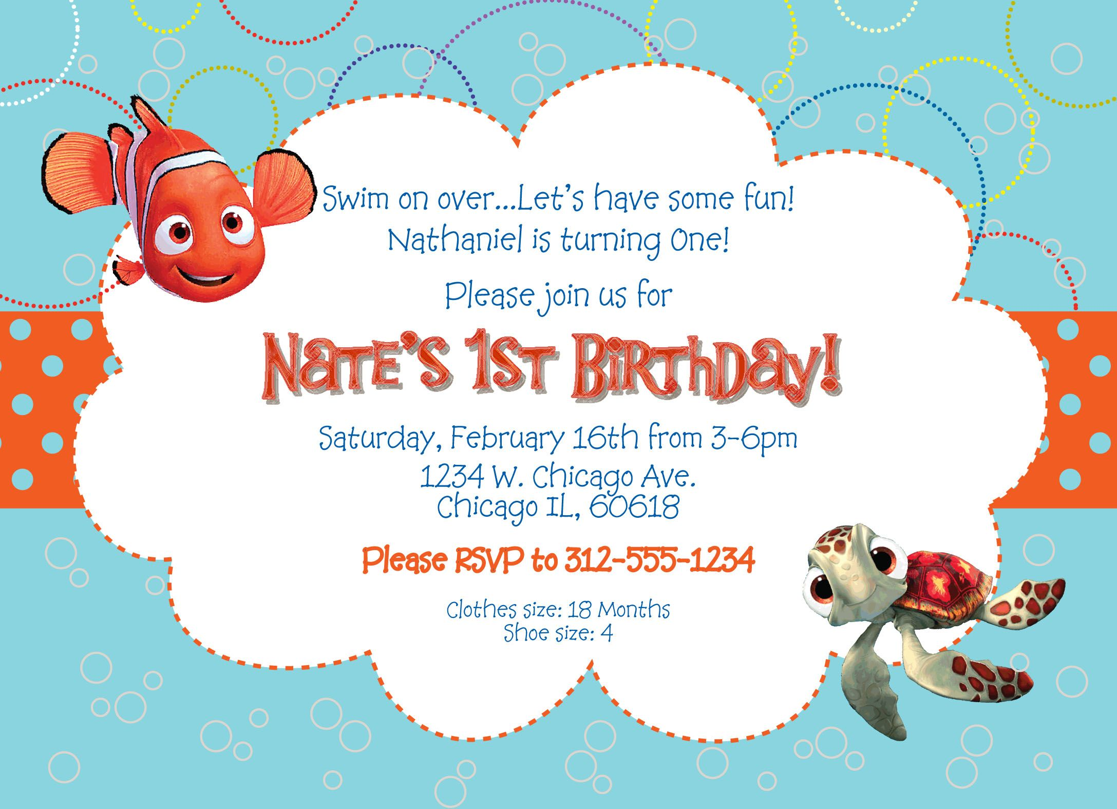 Finding nemo birthday invitations and get ideas how to make your finding nemo birthday invitations and get ideas how filmwisefo Image collections