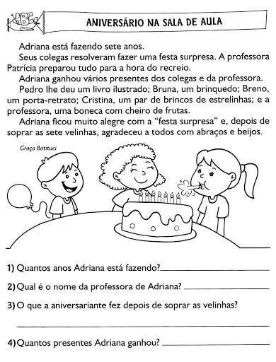 Pin De Lucy Costa Em Ensino Fundamental 1 Interpretacao De Texto