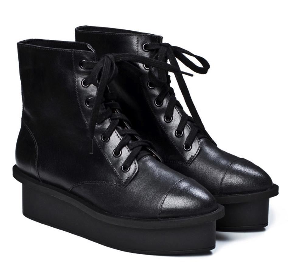 Zapatos negros de otoño estilo militar Dr. Martens para mujer VucXMTR