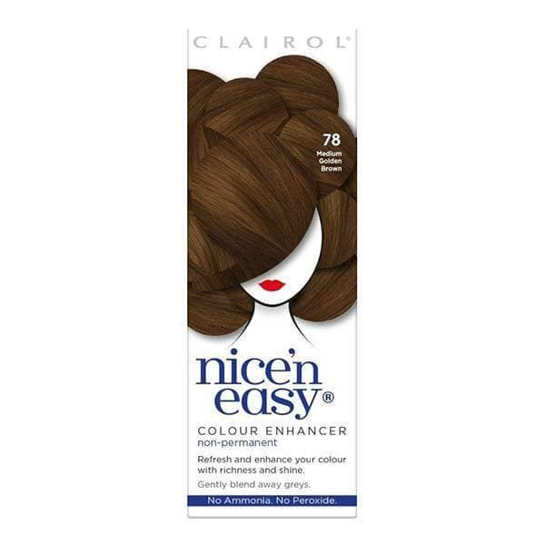 Nicen Easy Colour Enhancer Hair Dye Medium Golden Brown 78
