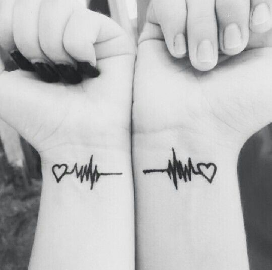 Heartbeat couple tattoos. Not sure where I would put this, but would love to share a tattoo with my man.