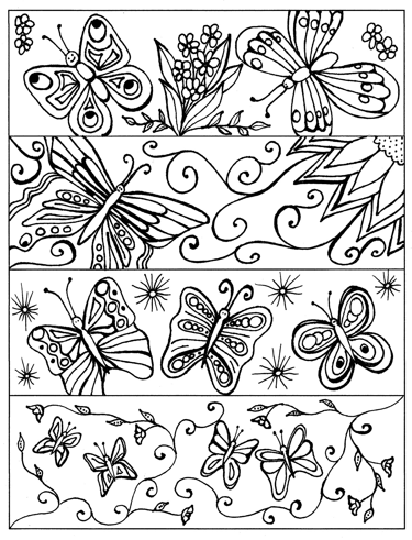 Butterfly Printable Bookmarkscoloring