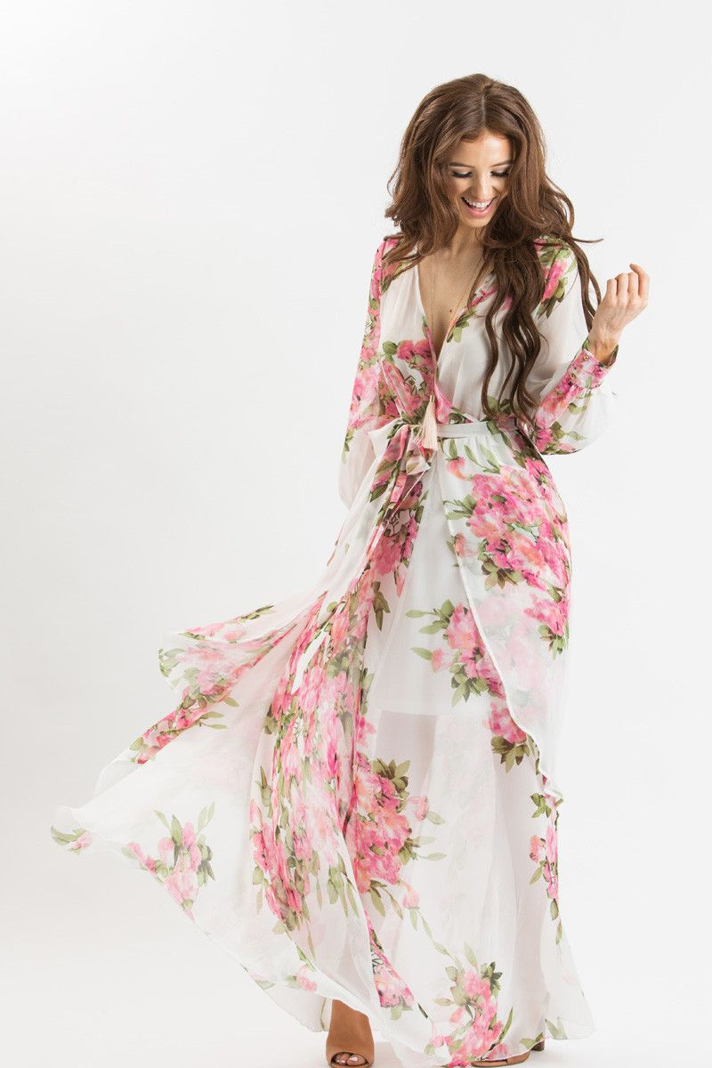 Floral Maxi Dresses For Women Bridal Shower Dresses Summer Wedding