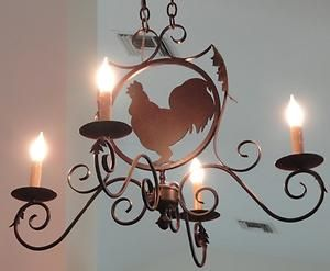 Details About Touch Of France Rooster Wrought Iron Chandelier