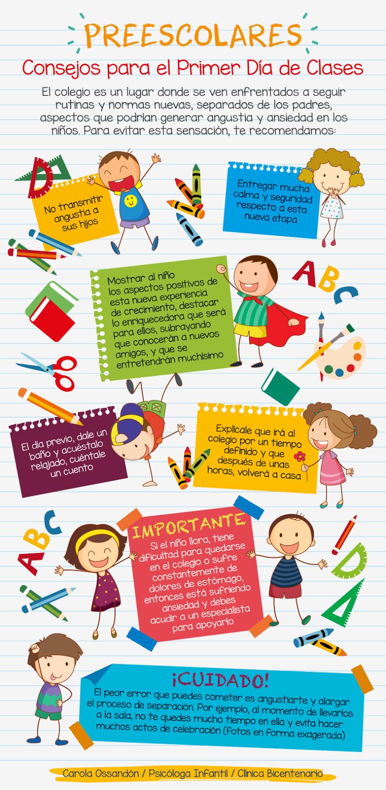 Educación Preescolar: Consejos para el primer día de clases ...