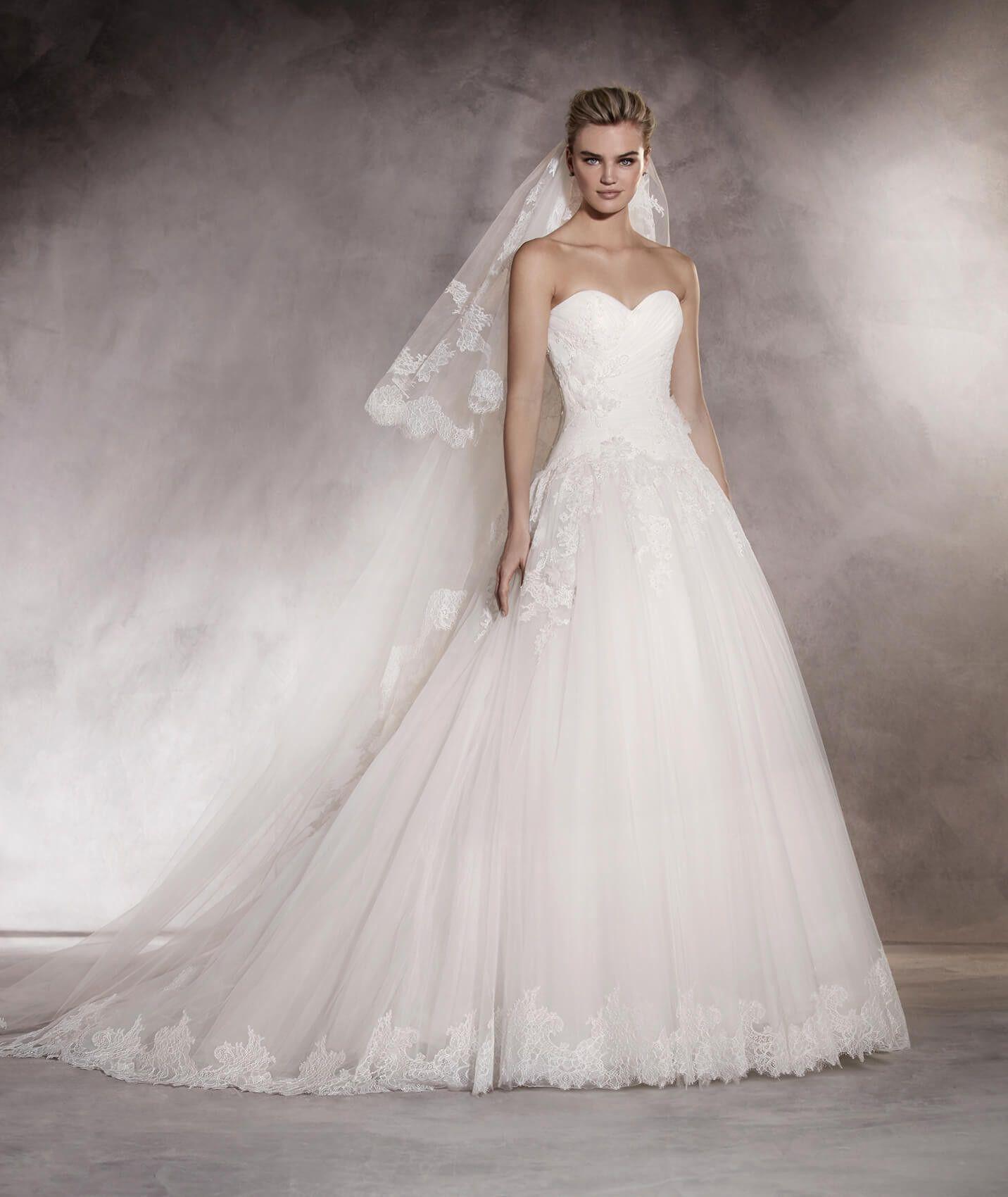 49151a66b3 Almenar - Vestido de novia en tul
