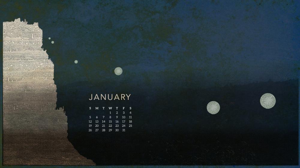 January 2020 Desktop Wallpaper Giants & Pilgrims in 2020