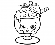 Choc Mint Charlie From Shopkins Season 6 Chef Club Coloring Pages Printable And Book To Print For Free Find More Online Kids