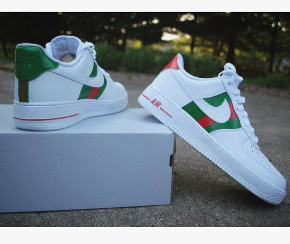 4c8babd5920 Custom Gucci Air Force Ones Low
