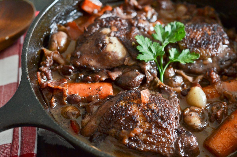 Julia Child S Coq Au Vin Recept Kip Coq Au Vin Vlees