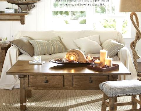 beach beige living room
