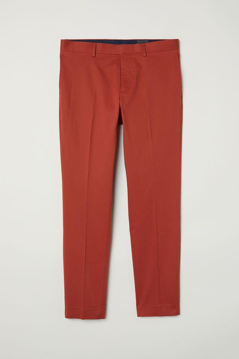 2967cb275925d5 Suit Pants Skinny fit   Dark orange   MEN   H&M US   Summer Style ...