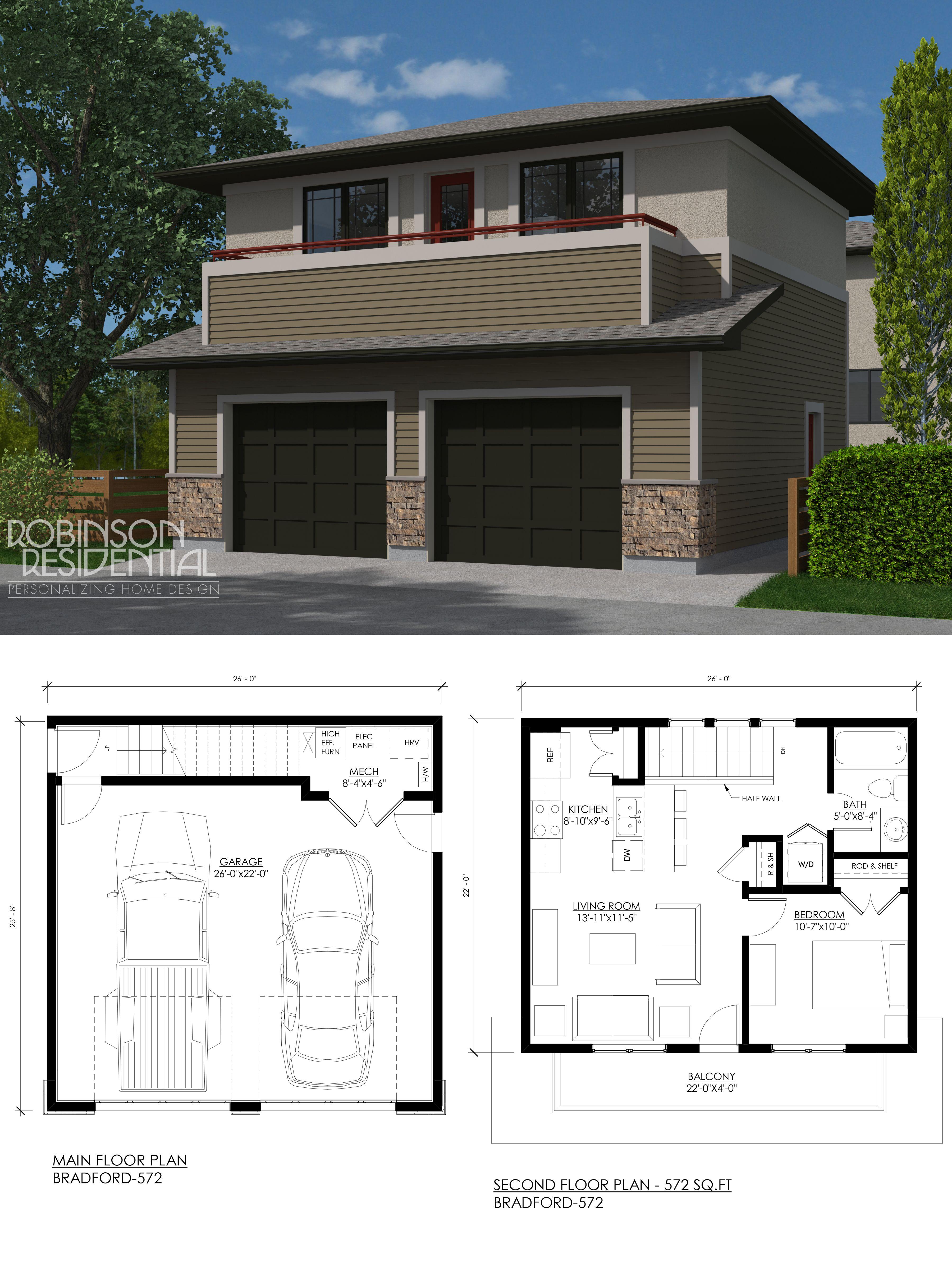 Prairie Bradford 572 Robinson Plans Carriage House Plans Garage Guest House Garage House Plans