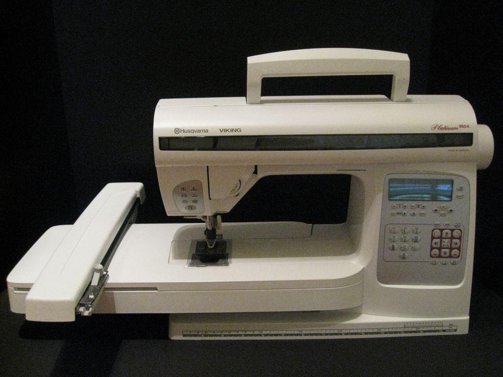 Husqvarna Viking Platinum 40E Embroidery Sewing Machine For Parts D Unique Husqvarna Viking Sewing Machine Parts Accessories