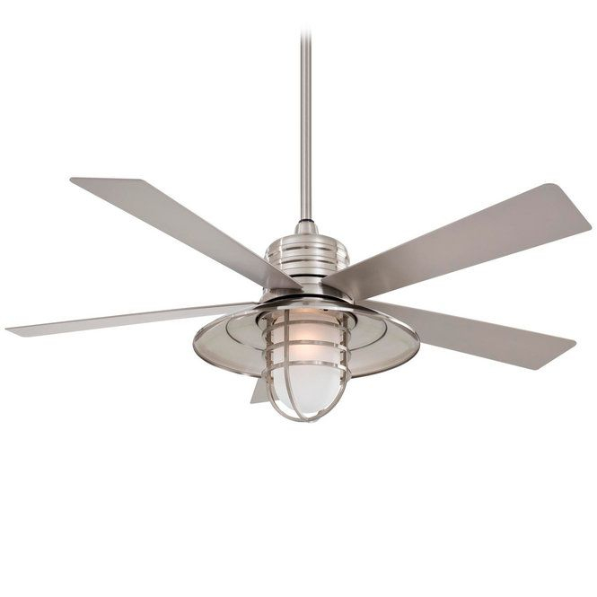 Reminiscent Of Coastal Towns The Boardwalk Indoor Outdoor Ceiling Fan Has Plenty Vintage Appeal And Functionality Wide Metal Shade Caged Wire