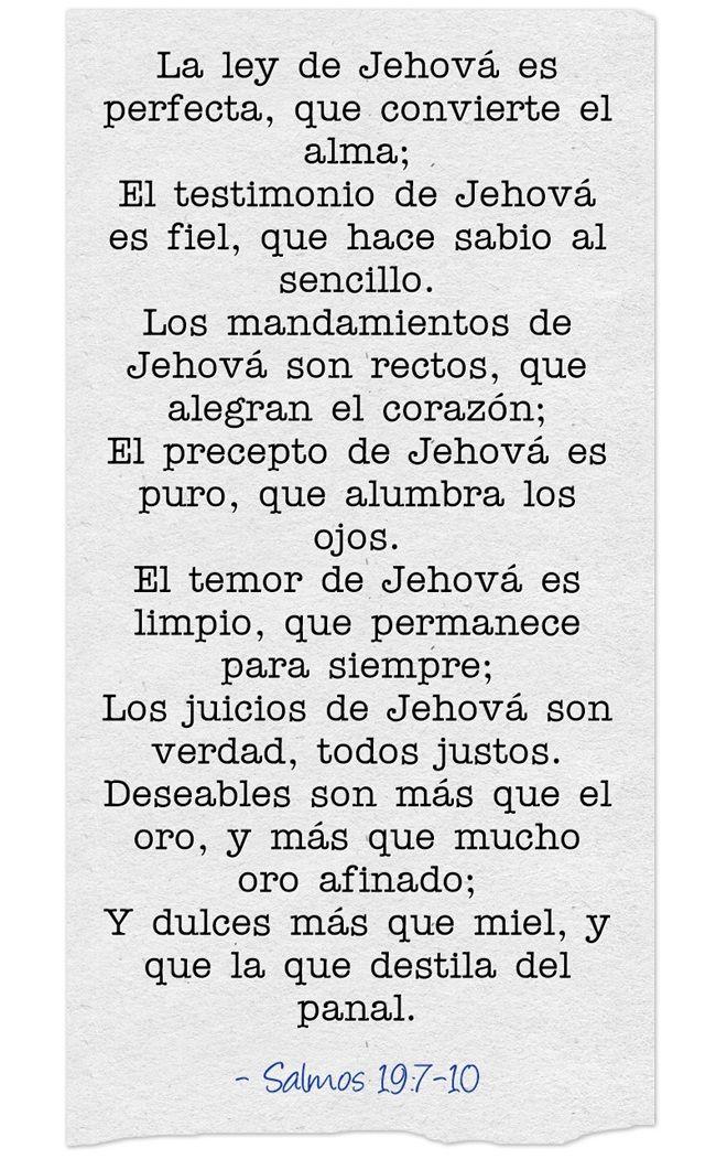 La Ley De Jehova Es Perfecta Que Convierte El Alma El Frases De Inspiracion Frases El Alma