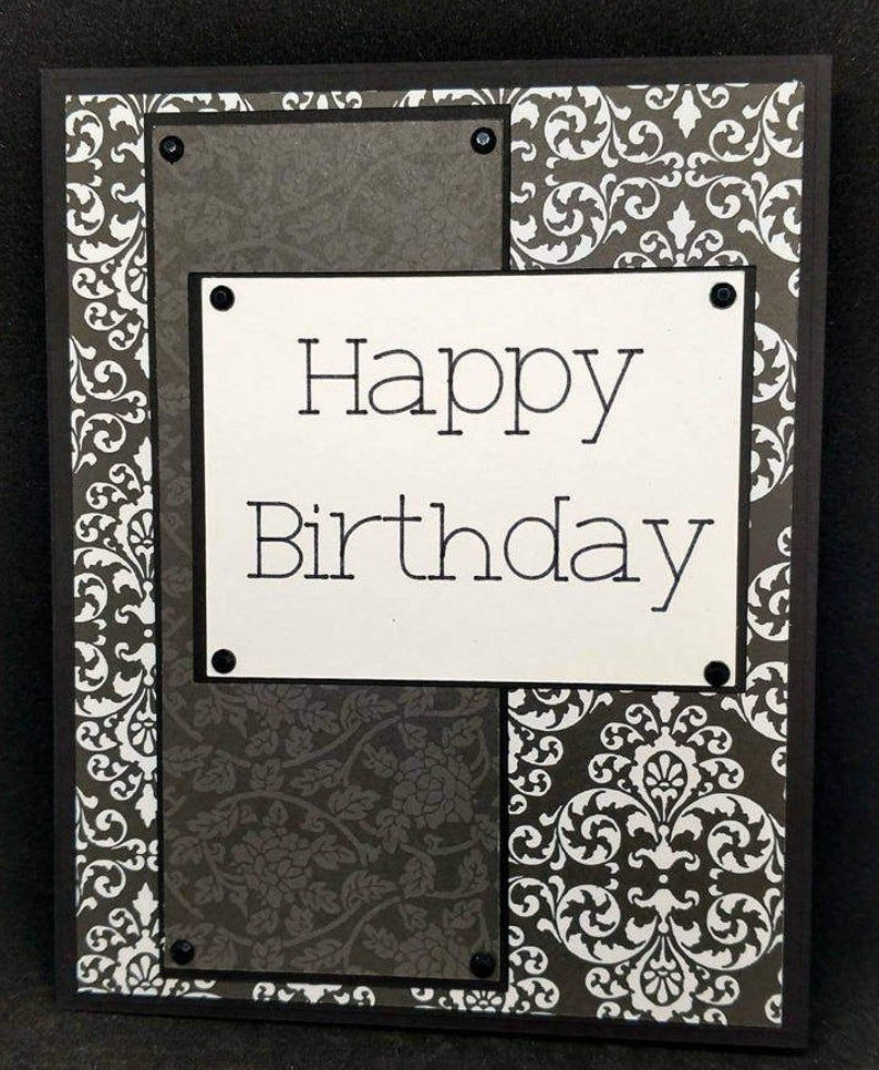 Masculine Birthday card Etsy in 2020 Scrapbook