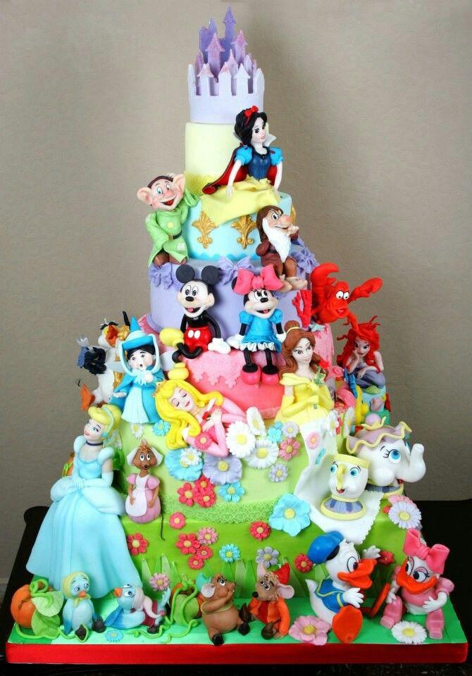 Torta de Disney. | tortas | Pinterest | De disney, Disney y Tortilla