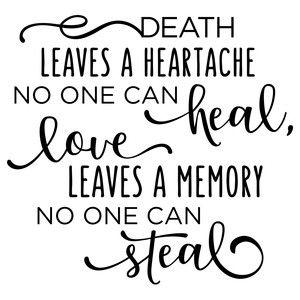 Silhouette Design Store: Death Leaves A Heartache Phrase