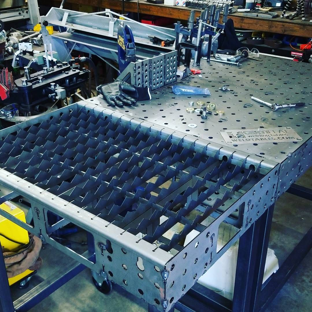 Working On A Plasma Station From Weldtables That Will Match My Certiflat Welding Table Actually Going To Make It My P Welding Table Welding Welding Table Diy