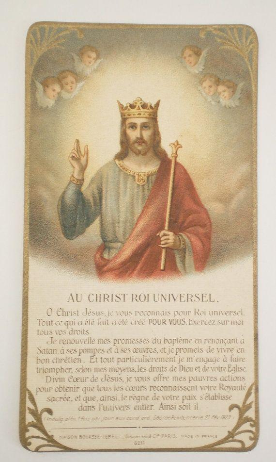 French Catholic Prayer Card God Is Good Pinterest