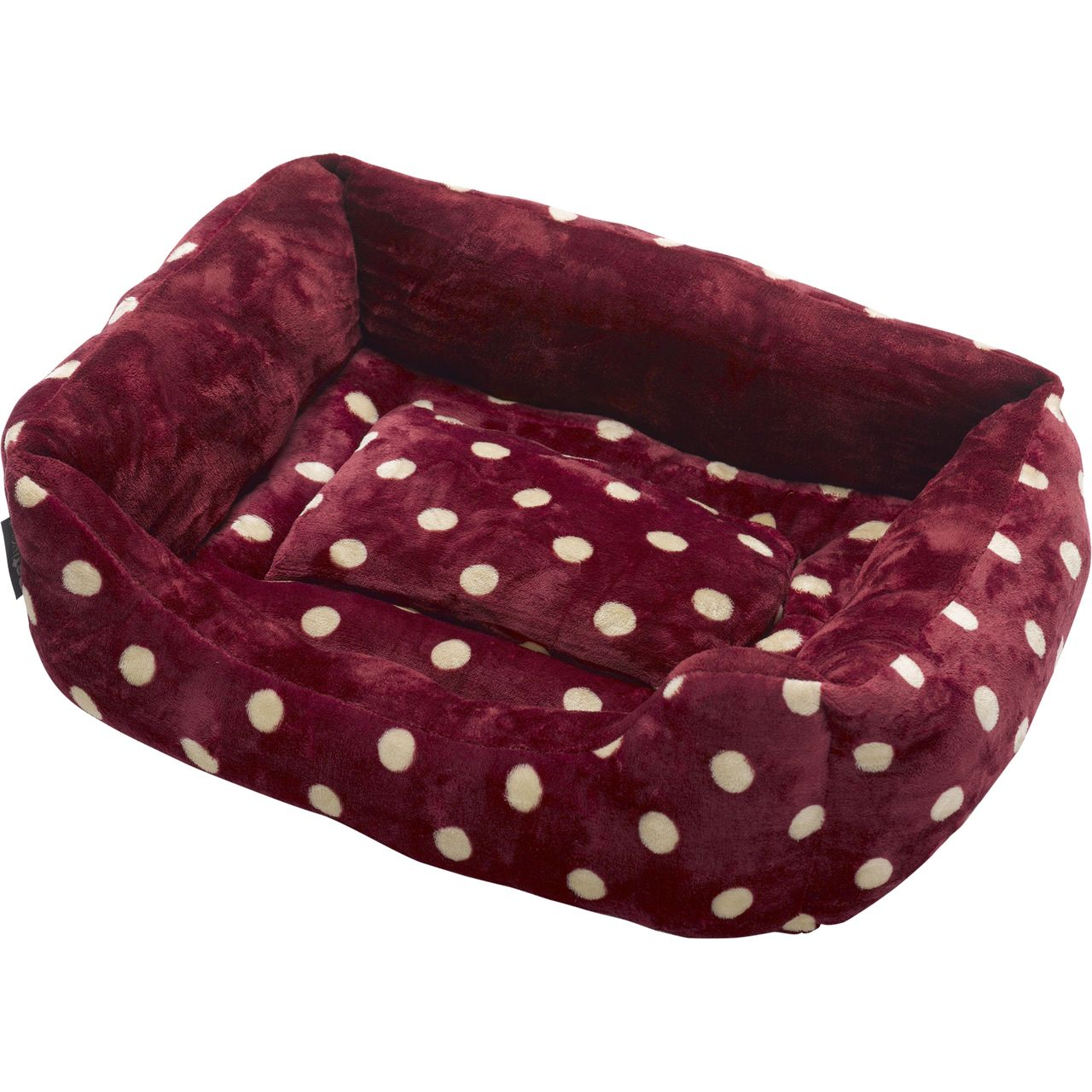 Petface Luxury Red & White Polka Dot Bed (Medium) Mill