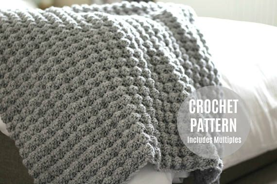 CROCHET AFGHAN PATTERN, Crochet Pattern, Crochet Blanket Pattern ...