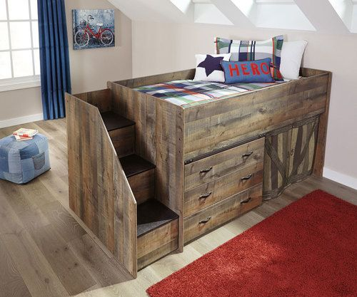 Trinell Low Loft Bed With Dresser And Fort Andrew Stuff