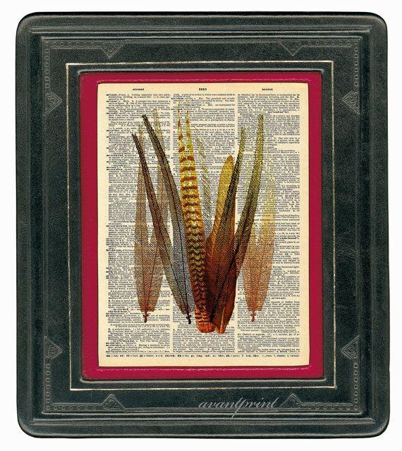 Tribal Burnt Feathers Native Folk Art Original Print by AvantPrint, $9.00