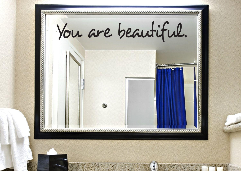 You Are Beautiful Decal   Bathroom Decal   Boys Room Decal   Girls Room  Decal   Decals   Kids Room Decals   Bathroom Decor   Home Decor. $9.00, Via  Etsy.