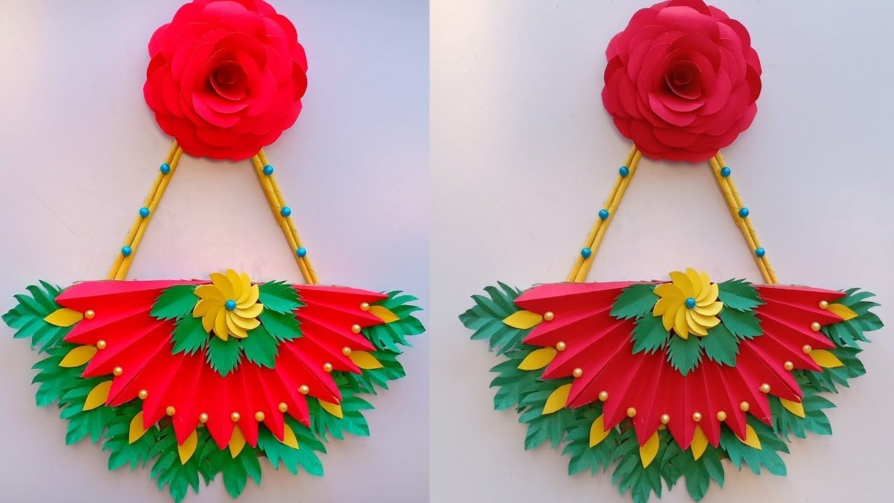Diy Paper Flower Wall Hanging Wall Decoration Ideas Diy Art And