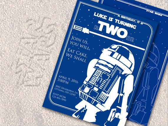 Star Wars Invitation 2nd Birthday Party By AProductOfDesign