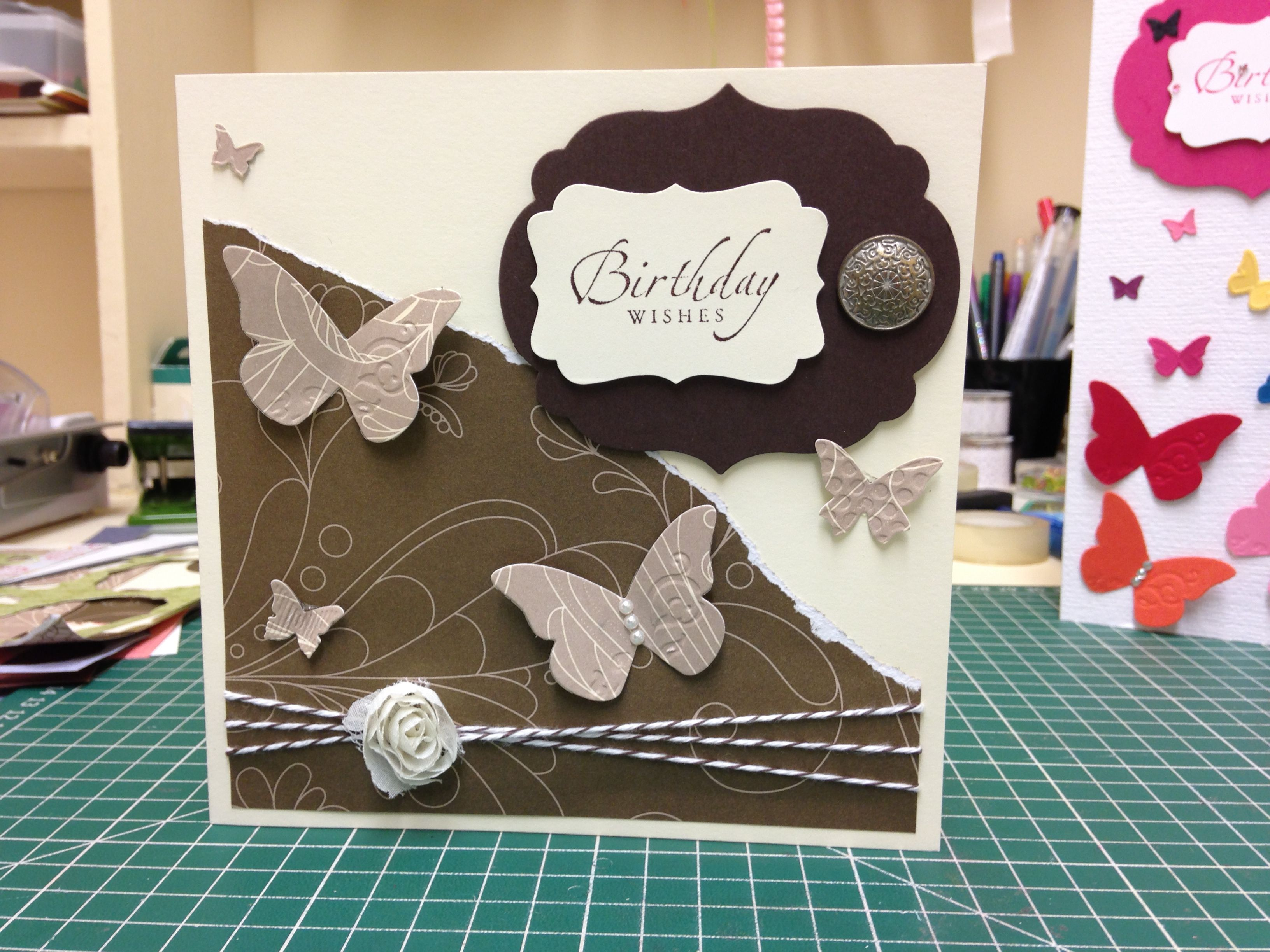 Stampin up birthday card x cards pinterest butterfly cards