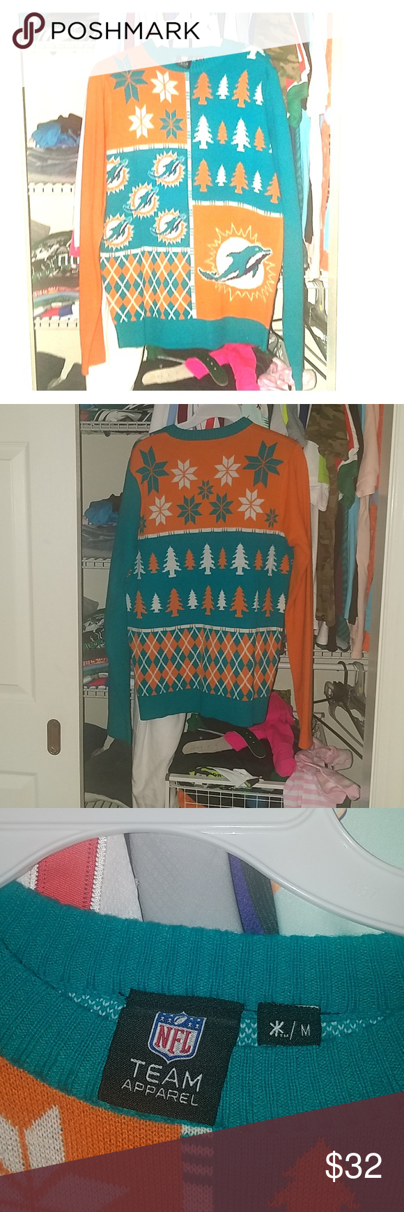 Miami Dolphins Ugly Sweater My Posh Closet Pinterest Sweaters