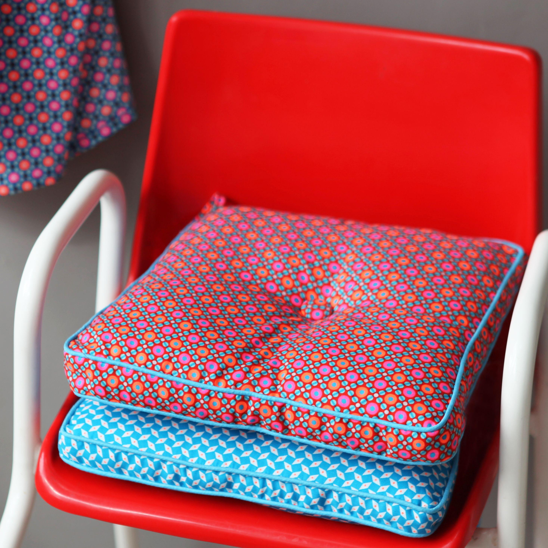Coussin galette pour chaise haute b b ou chaise de bureau - Coussin chaise de bureau ...