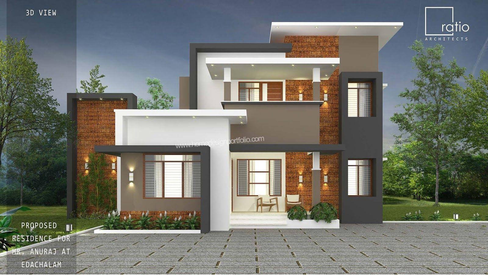30 Lakh 1770 Sq Ft 4 Bedroom Malappuram Home Design Idea Kerala House Design 2 Storey House Design Small House Front Design