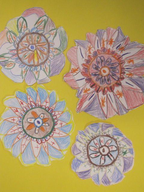 shine brite zamorano: kindergarten art lesson