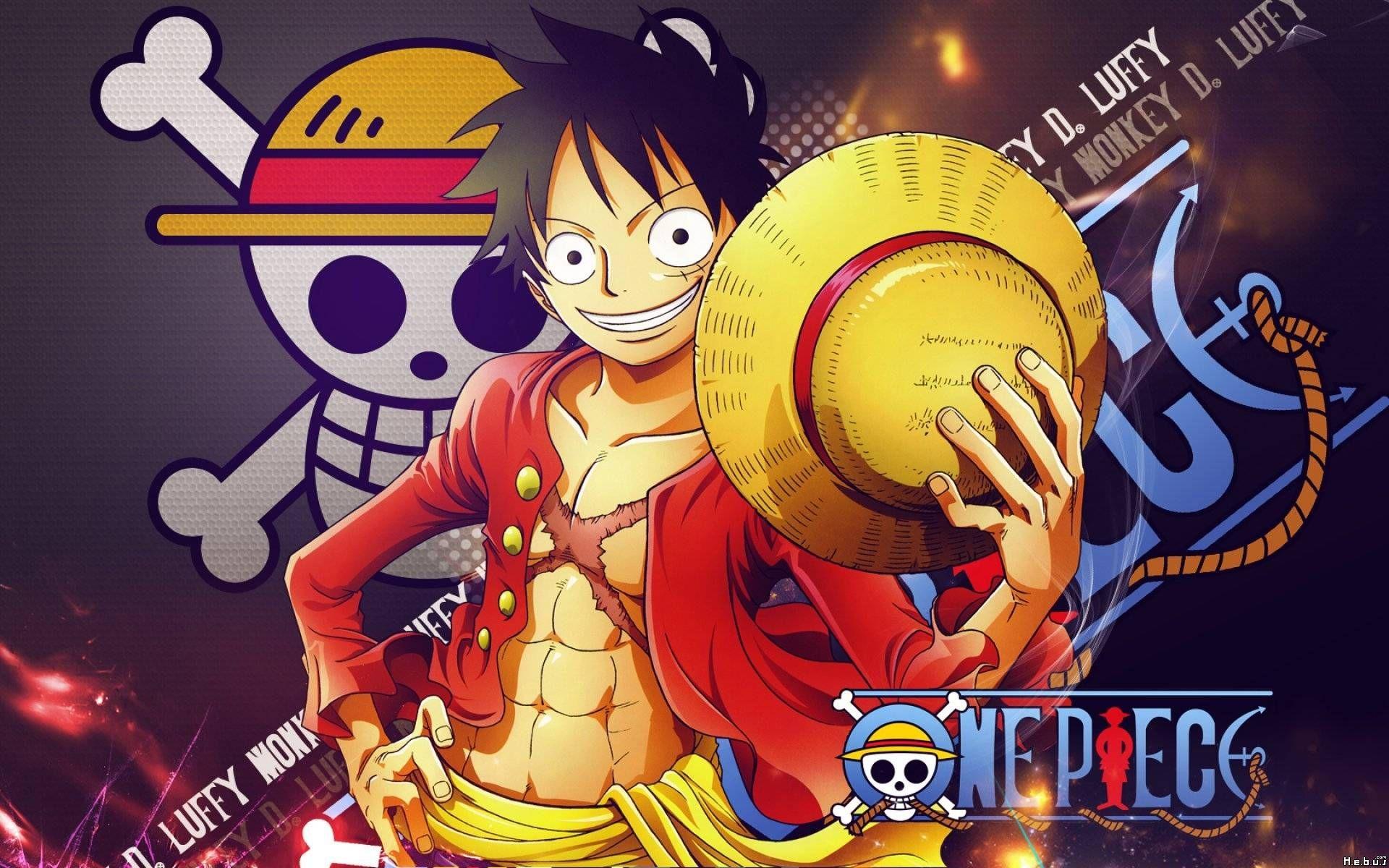 New World Monkey D Luffy One Piece Cartoon Manga HD Wallpaper Image