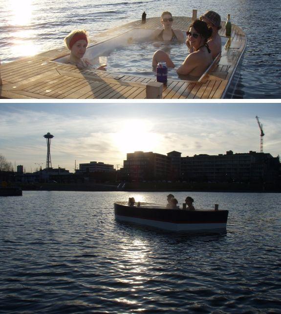yes hot tub boat in seattle randomness hot tub room tub boat. Black Bedroom Furniture Sets. Home Design Ideas