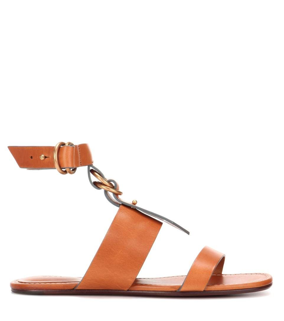 Chloe Kingsley flat leather sandals