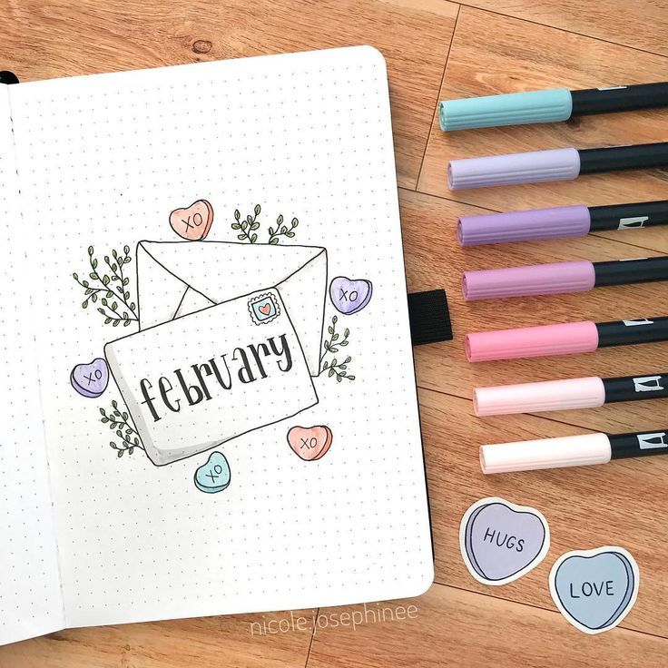 10 Fabulous February Cover Pages for Your Bullet Journal — Sweet PlanIt