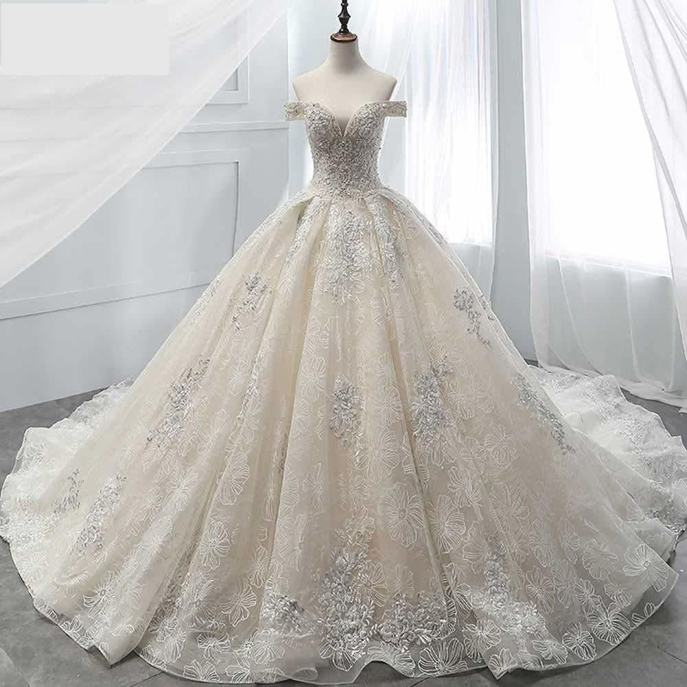 Item Type Wedding Dresses Built In Bra Yes Sleeve Style Off The Shoulder Decoration Ball Gown Wedding Dress Wedding Dresses Lace Ballgown Bridal Gowns Vintage