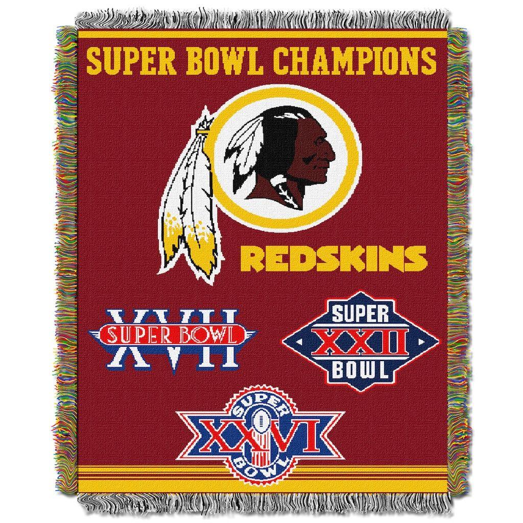 Washington Redskins Commemorative Throw Blanket by