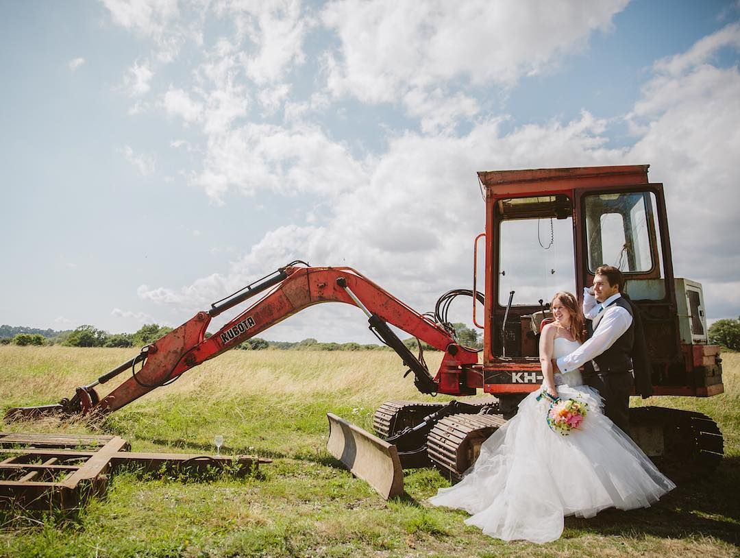Wishing the lovely Hayley & Liam a very happy 1st Anniversary! Where has this last year gone!?... Hope you guys are getting to enjoy this glorious weather  . . . . #weddinganniversary #anniversary #1stanniversary #firstanniversary #wedding #weddingday #brideandgroom #couple #love #married #1yearanniversary #tractor #rural #field #ruralwedding