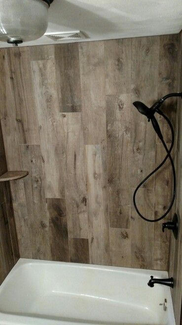 Wood Tile Tub Surround Pinteres