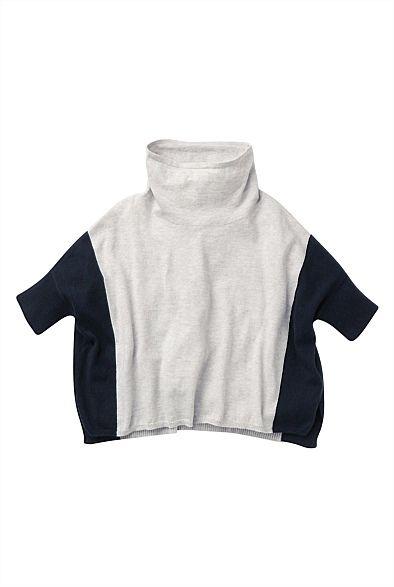 Girls & Kids Clothing Australia - Witchery Online - Colour Block Poncho